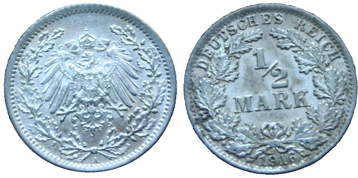 Allemagne_1-2_demi_reich_Mark_argent__1916A_Berlin