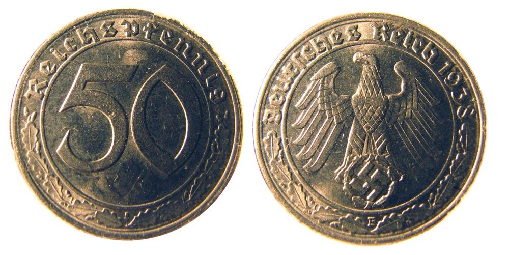 50 pfennig 1938
