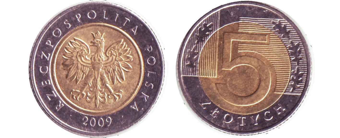 Pologne_5_Zloty_2009